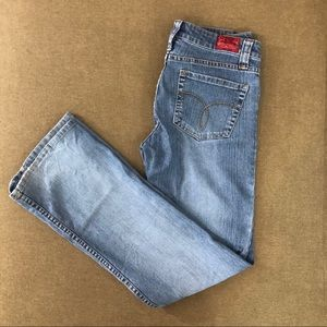 Paris Blues Light Wash Straight Leg Jeans